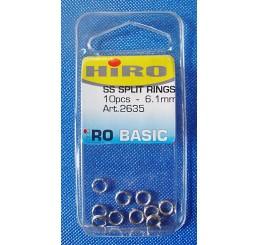 Κρικάκια ανοιγόμενα Inox HiRO SS SPLIT RINGS