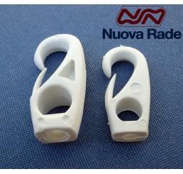 Άγκιστρα πλαστικά λευκά λαστιχόσχοινων