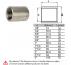 Μούφες ανοξείδωτες AISI304