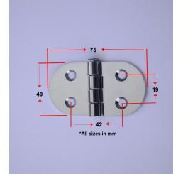 Μεντεσέδες ανοξείδωτοι 40x75mm