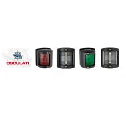 Φανάρια πορείας μαύρα Osculati Utility 77