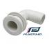 Εξαγωγές νερού λευκές γωνιακές Plastimo