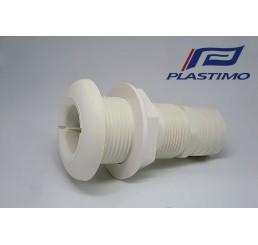 Εξαγωγές νερού λευκές ίσιες Plastimo