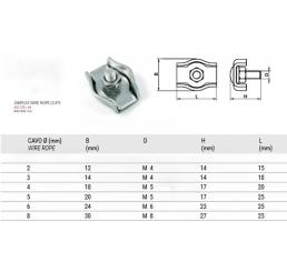 Σφιγκτήρες συρματόσχοινου Simplex AISI304