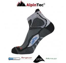 Κάλτσες AlpinTec Fast Running Γκρί-Μαύρο