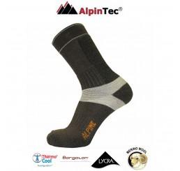 Κάλτσες AlpinTec Alpine Trekking Καφέ-Μπρονζέ