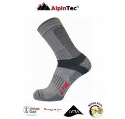 Κάλτσες AlpinTec Alpine Trekking Γκρί-Ανθρακί
