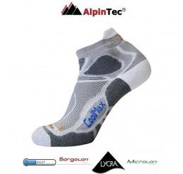 Κάλτσες AlpinTec Fast Running Γκρί-Λευκό