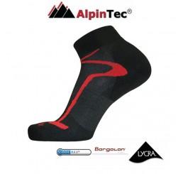 Κάλτσες AlpinTec MultiSport Light Short Μαύρο-Κόκκινο