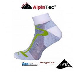 Κάλτσες AlpinTec MultiSport Light Short Άσπρο-Πράσινο