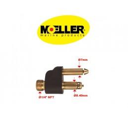 Φίς αρσενικό καυσίμου Moeller για μηχανές Mercury