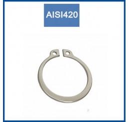 Ασφάλειες ανοξείδωτες άξονα AISI420 DIN471 Size M3 έως Μ50