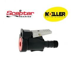 Φίς θηλυκό καυσίμου Scepter-Moeller για μηχανές Johnson-Evinrude & Suzuki