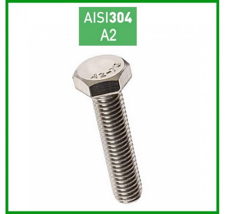 Βίδα εξάγωνη ανοξείδωτη Α2 DIN933 Ø10mm