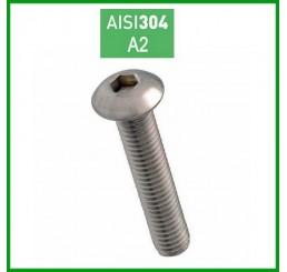 Βίδες Allen ανοξείδωτες Α2 ISO 7380 Ø10mm